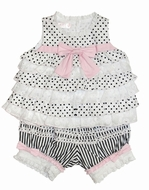 Biscotti Dresses *Little Darling*  Black & White Top & Bloomer-Size 6M left only!