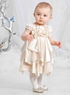 Biscotti Dresses *Glimmer in Gold* Champagne Dress -Sizes 24M to 4T With Matching Shoes & Shrug -NEW!