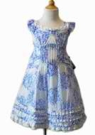 Biscotti Dress *Porcelain Blues*  Only a size 5 left!