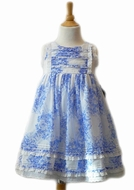 Biscotti Dress *Porcelain Blues* Sizes 9M & 24M Left Only!