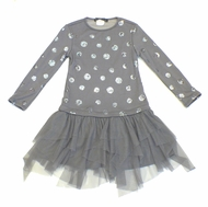 Biscotti Dresses *Shiny Bubbles* Knit & Netting Dress -Sizes 4 to 10