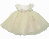 Baby Biscotti *Sweet Chic* Stunning Special Occasion Ivory Ballerina Dress -Sold-out!