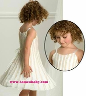 Biscotti Dresses *A Touch Of Gold* Winter White Sleeveless Dress with Gold Accents and Sweater- Size 5 Left Only!