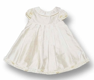 Biscotti Dresses * Ivory Silk Dress* with Cap Sleeves and Audrey Hepburn Neckline - Only 6M size left!