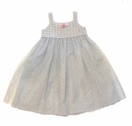 Biscotti Dresses- Hand-Made Sparkle Tulle Dress with Matching Shrug-Sizes 3M to 4