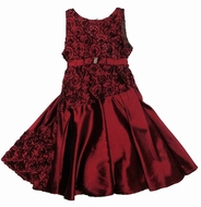 Isobella & Chloe *Eleanor* Red Taffeta Belted Bodice Dress-Sizes 7 & 10 Left Only!