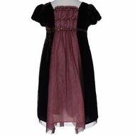 Biscotti Dresses- Holiday Dress - Brown Velvet - Only a size 3 left!