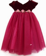 Biscotti Holiday Dress- Rich Burgundy Velvet- SOLD OUT!