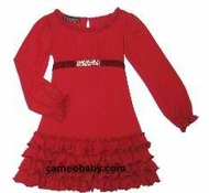 Biscotti Dresses *Little Gems* Red Knit Ruffle Bottom Dress-SOLD OUT