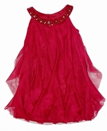 Biscotti Dresses *Runway Ready* Burgundy Red Netted Dress -Only sizes 6 Left Only