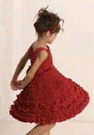 Biscotti Dresses *Frill Seeker* Red Ruffled A-Line Dress- Size 4 Left Only! Matching Shrug