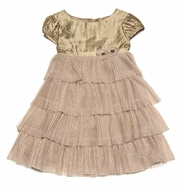 Biscotti Dresses *Golden Girl* Matching Shrug & Shoes -Sizes 12M to 4T