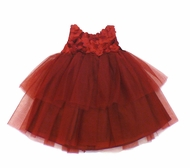 Biscotti Dresses *La Belle Fleur* Holiday Red Tulle Dress & Shrug 2-Piece Set- Sizes 3M to 4T