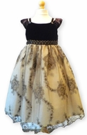 Biscotti Dresses- Holiday Brown and Gold Velvet Dress- Only sizes 2T & 5 left!