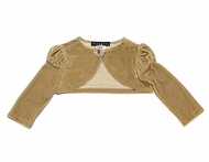 Biscotti Baby/ Toddler Girls *Golden Girl* Velvet Puff Sleeve Shrug
