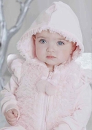 Kate Mack *Left Bank* Pink Toddler Velour Hoodie & Pant 2-piece Set Sizes 6m - 2T