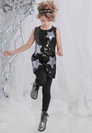 Kate Mack *A Star Is Born* Black Super Star Sequin Dress Sizes 5-6 & 6x Left Only!