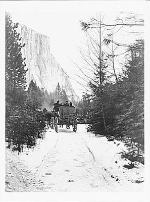 STAGECOACH IN YOSEMITE, c 1915