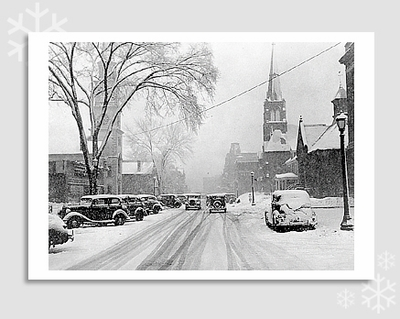 MAIN STREET, BRATTLEBORO, VT, 1939 - HOLIDAY CARDS