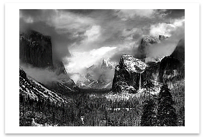 CLEARING WINTER STORM, YOSEMITE NATIONAL PARK, CA, 1944