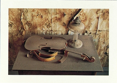 VIOLIN AND LAMP IN THE MORGUE, CA