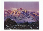 DAWN, LONE PINE PEAK, SIERRA NEVADA, CA - HOLIDAY CARDS