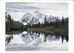 MOUNT SHUKSAN AND PICTURE LAKE, HEATHER MEADOWS RECREATION AREA, WA - HOLIDAY CARDS