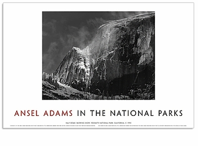 """<font color =""""blue"""">NEW!</font> ANSEL ADAMS IN THE NATIONAL PARKS : HALF DOME, BLOWING SNOW"""