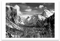 YOSEMITE VALLEY FROM INSPIRATION POINT, WINTER, YOSEMITE NATIONAL PARK, CA, c 1940