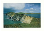 A SPRINGTIME STORM, POINT REYES HEADLANDS, BEHIND IS DRAKE'S BAY - LARGE POSTCARD