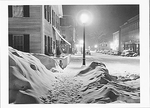 SNOWY NIGHT, WOODSTOCK, VT, 1940