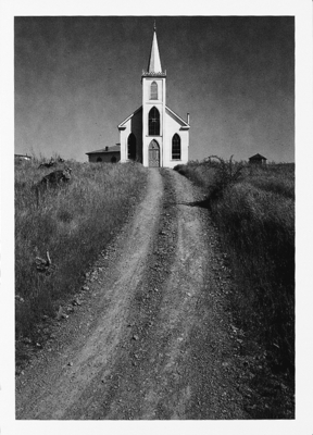 CHURCH AND ROAD, BODEGA, CA, c 1953