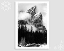 THREE BROTHERS, WINTER STORM, YOSEMITE NATIONAL PARK, CA - HOLIDAY CARDS