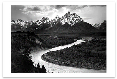THE TETONS AND THE SNAKE RIVER, GRAND TETON NATIONAL PARK, WY, c 1942