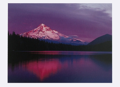 AFTERGLOW ON MOUNT HOOD, LOST LAKE, OR - HOLIDAY CARDS