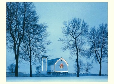 THE CHRISTMAS BARN, DECEMBER 25, 2002, WISCONSIN - HOLIDAY CARDS