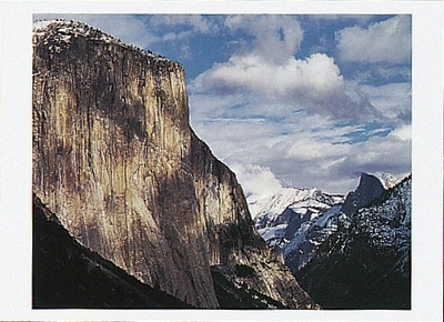 CLEARING WINTER STORM, OVER YOSEMITE VALLEY, YOSEMITE NATIONAL PARK, CA, 1994 - HOLIDAY CARDS