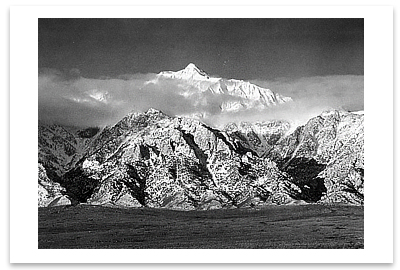 MOUNT WILLIAMSON, SIERRA NEVADA FROM OWENS VALLEY, CA, c 1944
