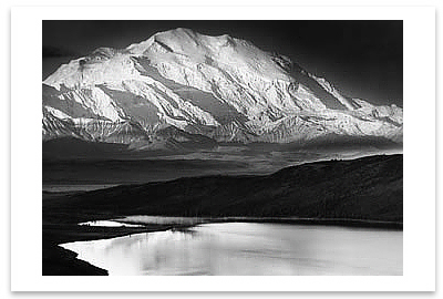 MOUNT MCKINLEY & WONDER LAKE, DENALI, AK, c 1947