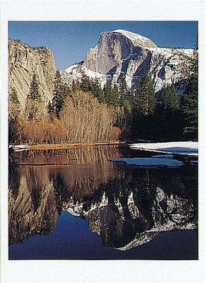 HALF DOME AND THE MERCED RIVER, WINTER, YOSEMITE NATIONAL PARK, CA, 1994 - HOLIDAY CARDS