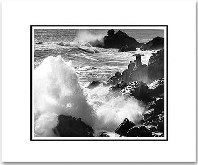 SURF AND ROCKS, TIMBER COVE, CALIFORNIA