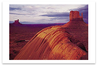 LATE EVENING, MONUMENT VALLEY, UT 1950