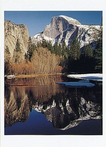 HALF DOME AND THE MERCED RIVER, WINTER, YOSEMITE NATIONAL PARK, CA, 1994