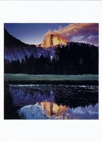 SUNDOWN REFLECTION OF HALF DOME, YOSEMITE NATIONAL PARK, CA, 1995