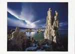 TUFA TOWERS, LENTICULAR CLOUDS, MONO LAKE, CA