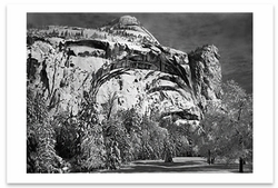 NORTH DOME, ROYAL ARCHES, WASHINGTON COLUMN, WINTER, YOSEMITE NATIONAL PARK, CA, c 1940