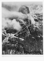 SENTINEL ROCK AND CLOUDS, WINTER, YOSEMITE NATIONAL PARK, CA, c 1937
