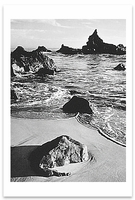 SURF AND ROCK, MONTEREY COUNTY COASTLINE, CA, 1951