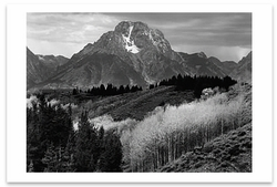 MOUNT MORAN, AUTUMN, GRAND TETON NATIONAL PARK, WY, 1948