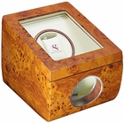 Steinhausen Executive Wooden Single Watch Winder with Lifetime Warranty - Burlwood OUT OF STOCK